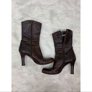 Charles David Brown Mid-Calf Boots